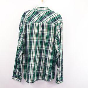 Carhartt Shirts - 90s Carhartt Mens XL Spell Out Plaid Flannel Shirt
